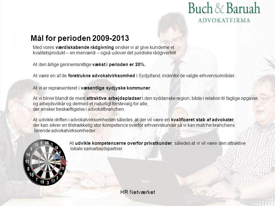 Mål for perioden 2009-2013 HR Netværket