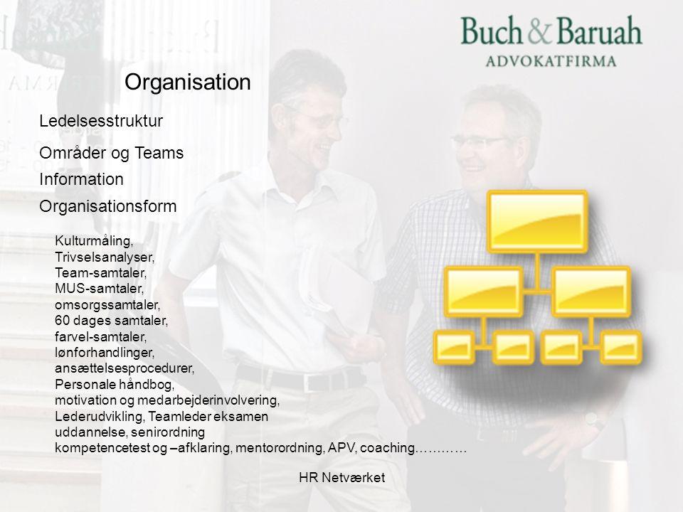 Organisation Ledelsesstruktur Områder og Teams Information