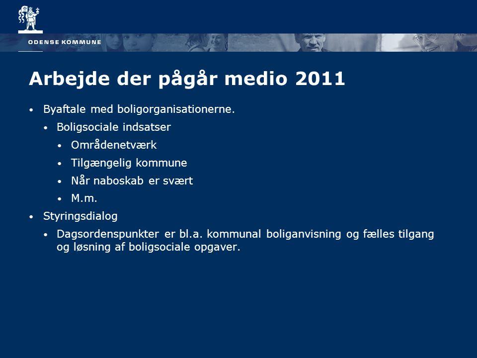 Arbejde der pågår medio 2011