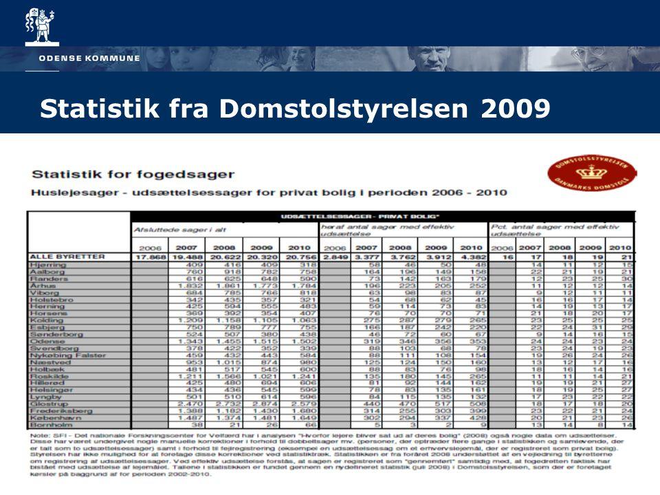 Statistik fra Domstolstyrelsen 2009