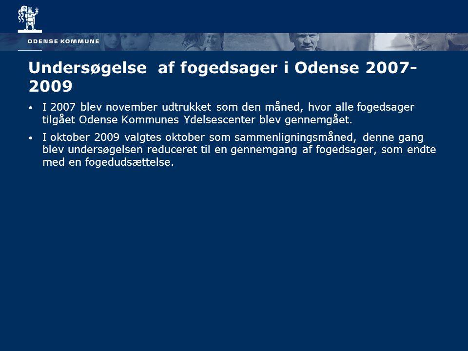 Undersøgelse af fogedsager i Odense 2007-2009