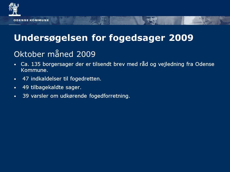 Undersøgelsen for fogedsager 2009