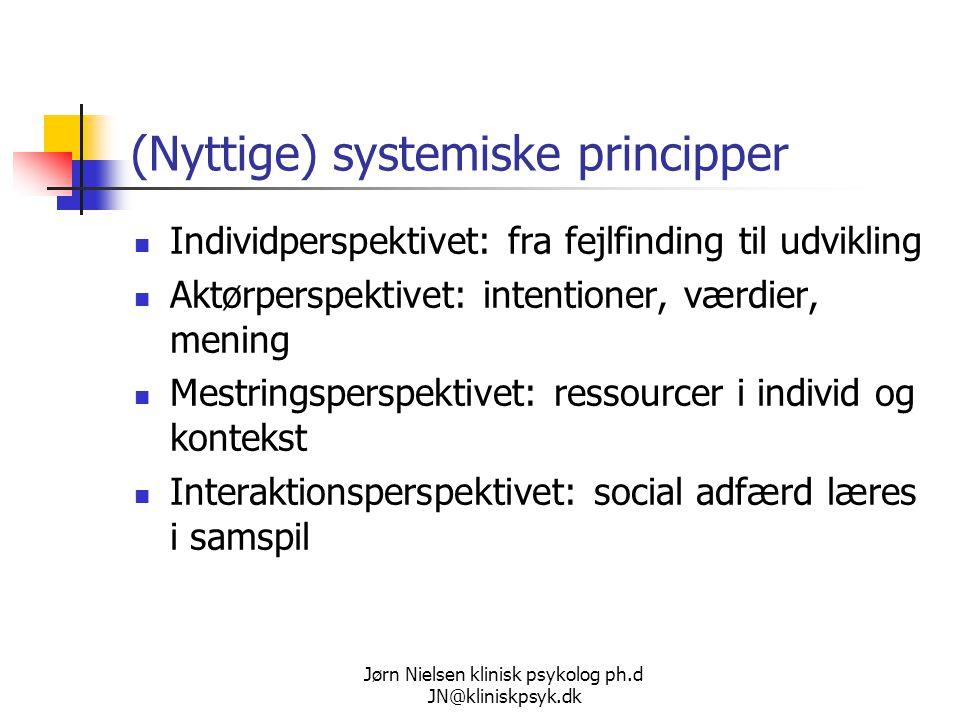 (Nyttige) systemiske principper