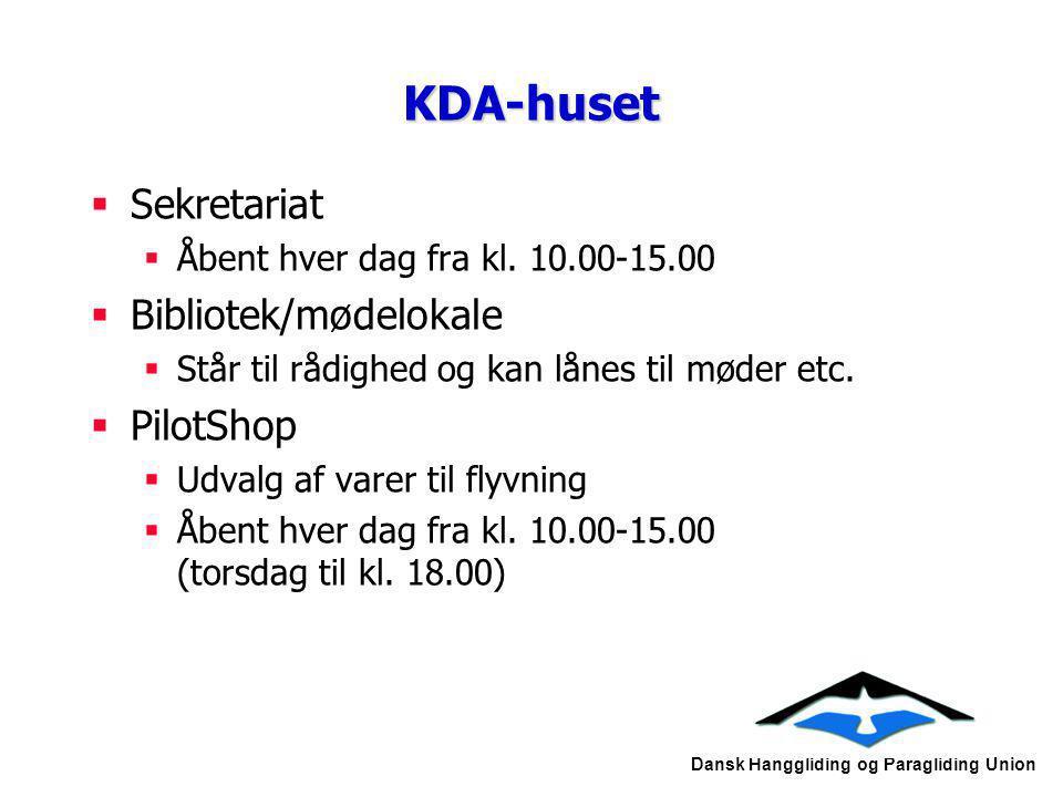KDA-huset Sekretariat Bibliotek/mødelokale PilotShop