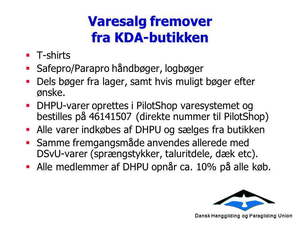 Varesalg fremover fra KDA-butikken