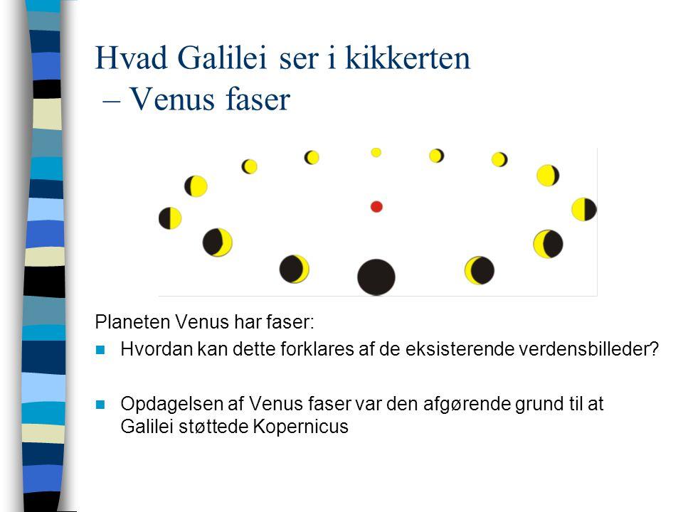 Hvad Galilei ser i kikkerten – Venus faser