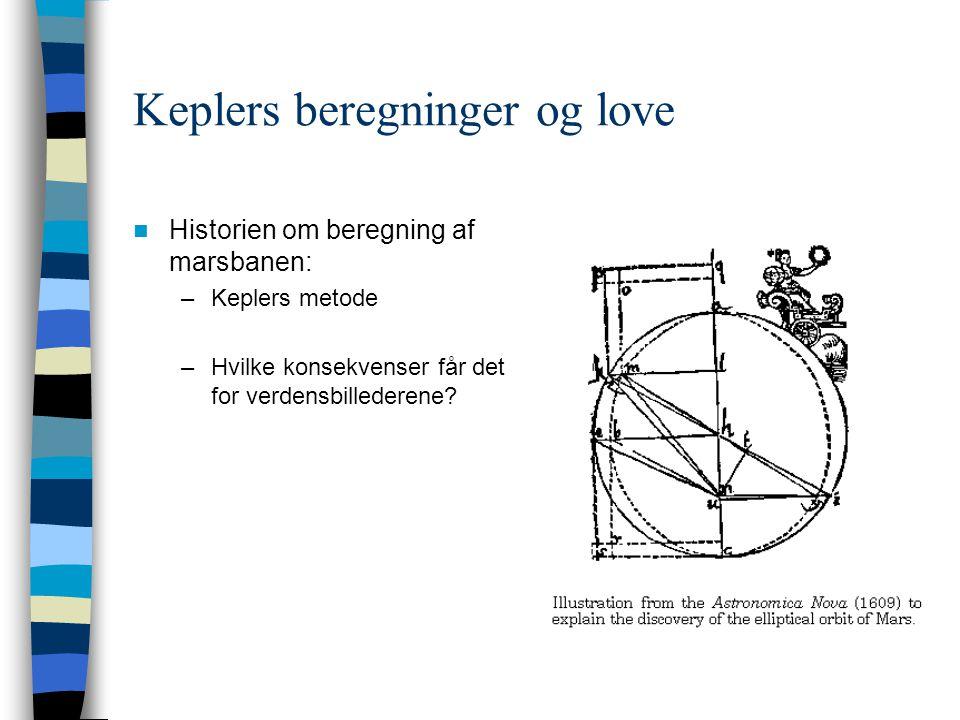 Keplers beregninger og love