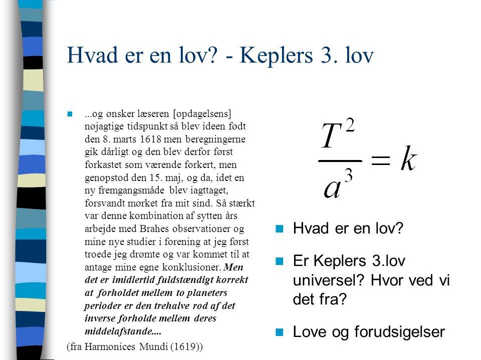 Hvad er en lov - Keplers 3. lov