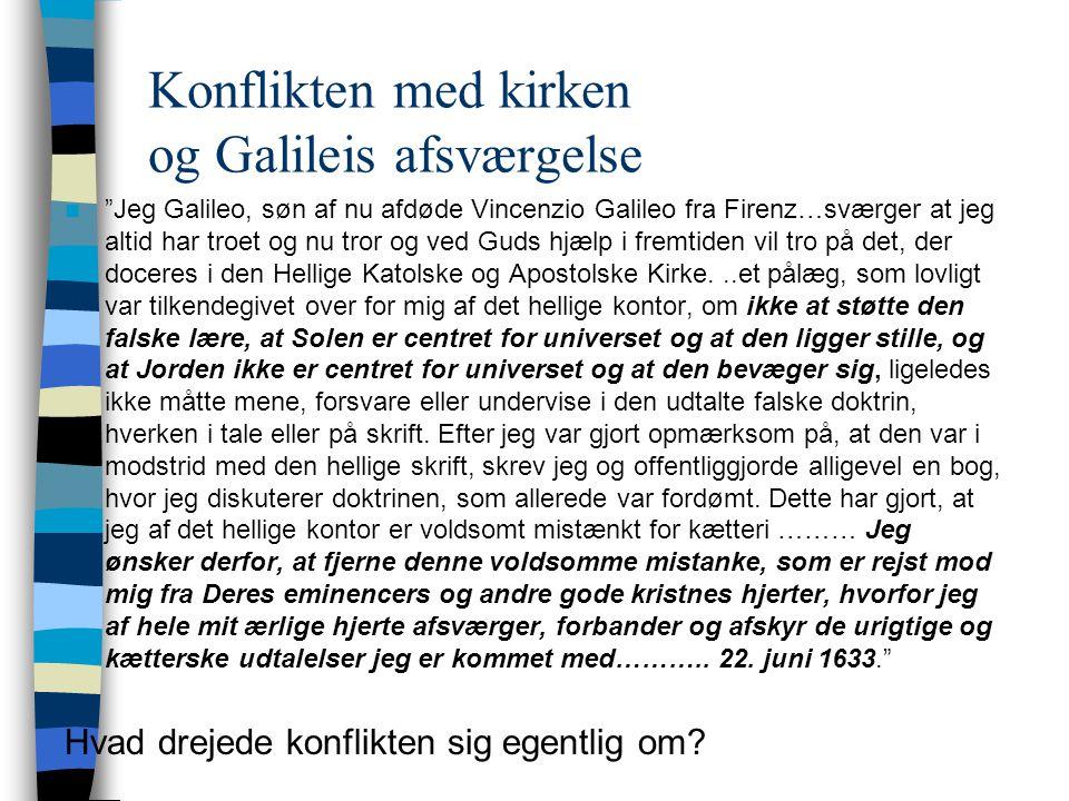 Konflikten med kirken og Galileis afsværgelse