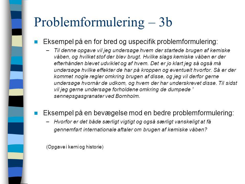 Problemformulering – 3b
