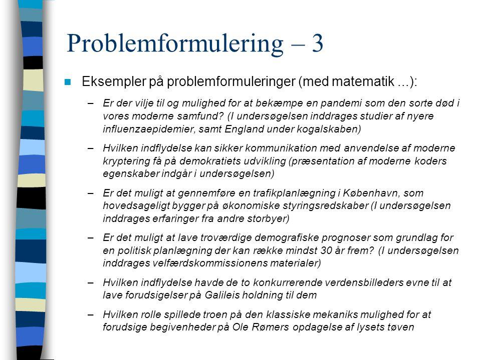 Problemformulering – 3 Eksempler på problemformuleringer (med matematik ...):