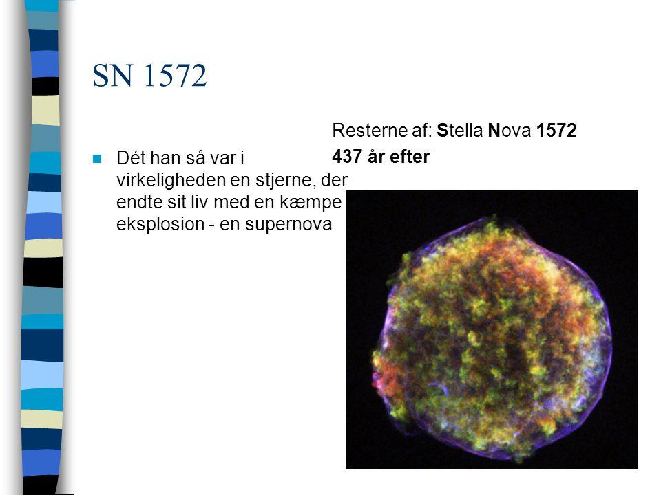 SN 1572 Resterne af: Stella Nova 1572 437 år efter