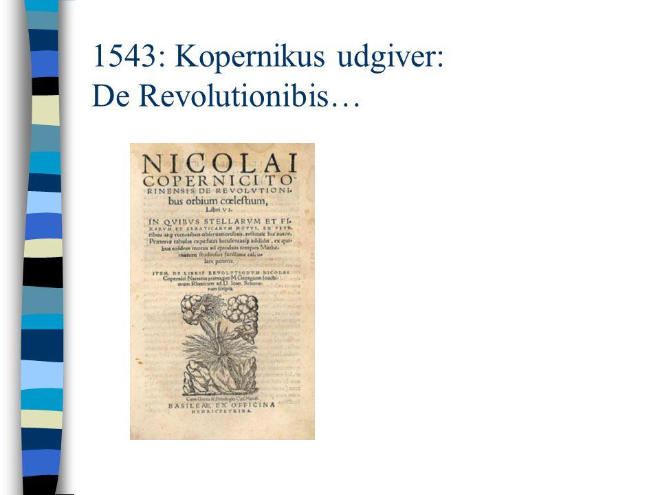 1543: Kopernikus udgiver: De Revolutionibis…