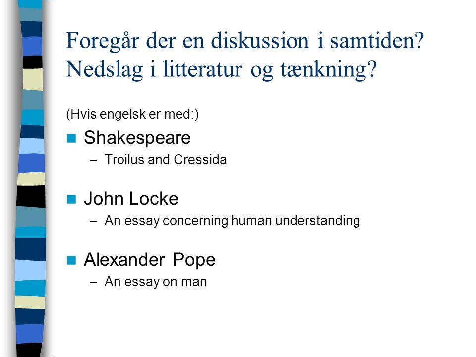 Foregår der en diskussion i samtiden Nedslag i litteratur og tænkning