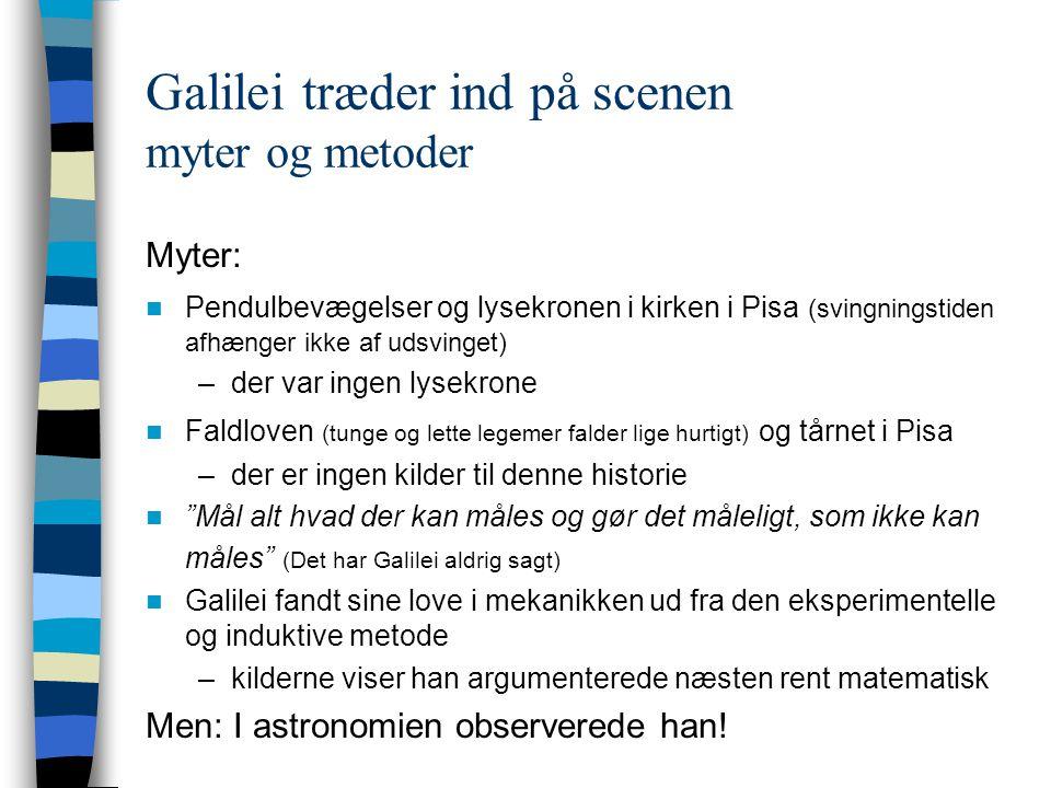 Galilei træder ind på scenen myter og metoder