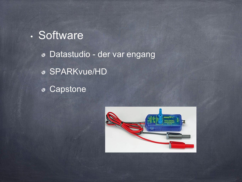 Software Datastudio - der var engang SPARKvue/HD Capstone