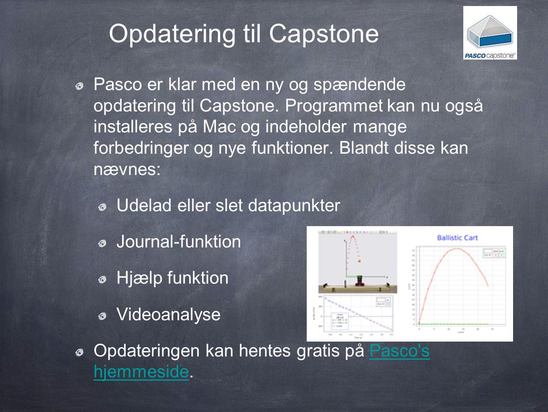Opdatering til Capstone