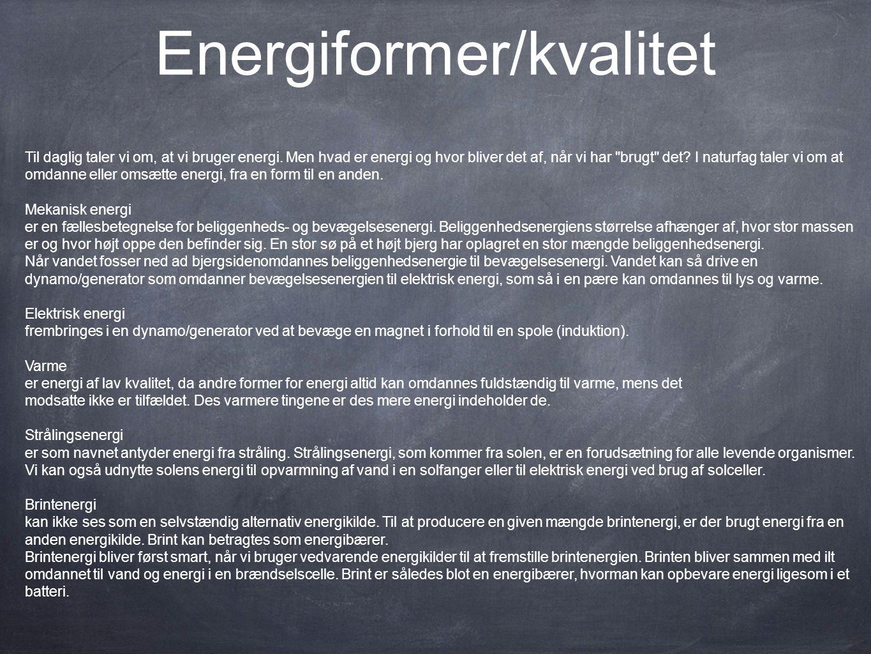 Energiformer/kvalitet
