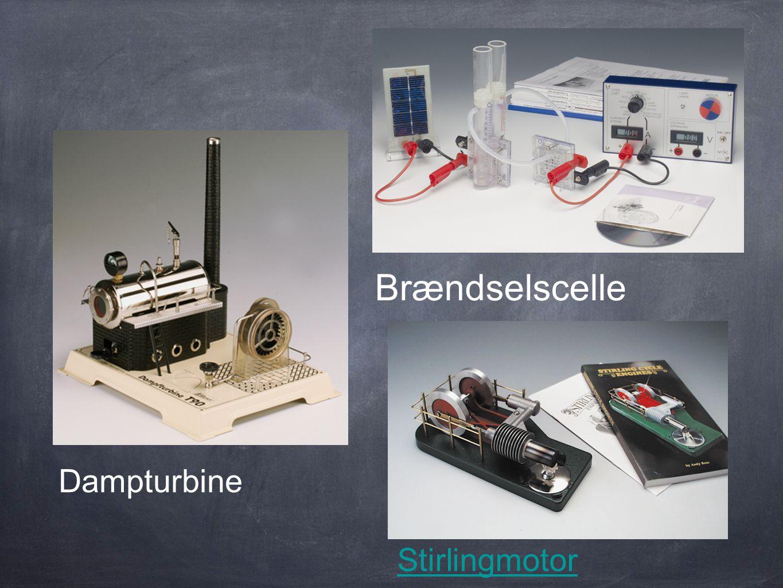 Brændselscelle Dampturbine Stirlingmotor