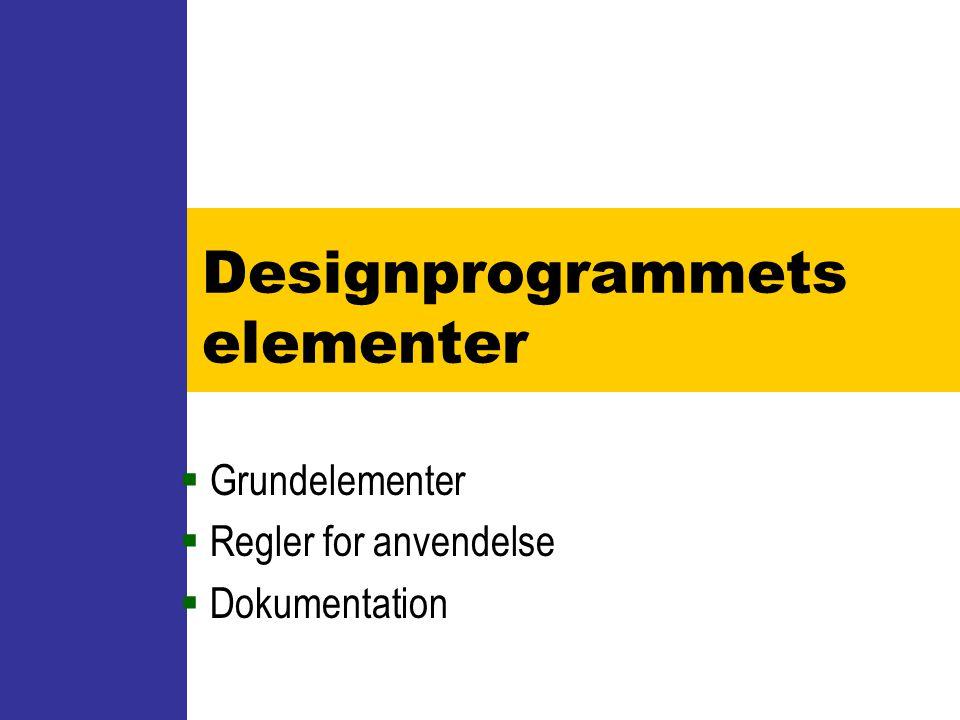 Designprogrammets elementer