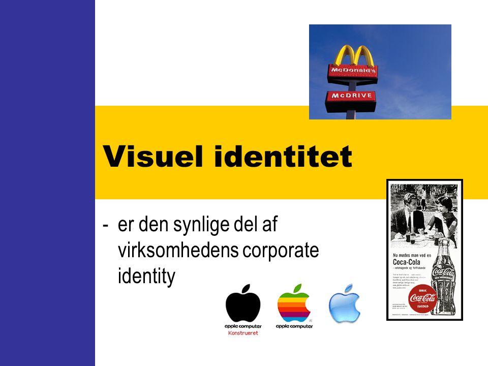 - er den synlige del af virksomhedens corporate identity