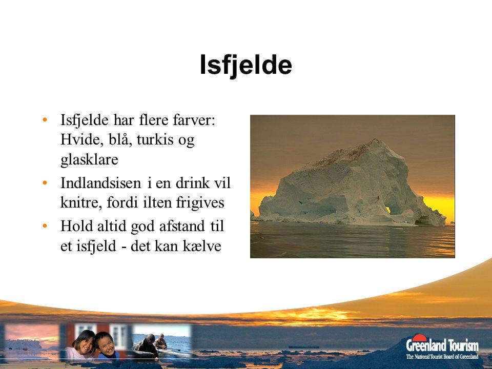 Isfjelde Isfjelde har flere farver: Hvide, blå, turkis og glasklare