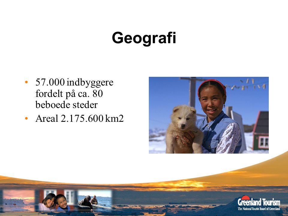 Geografi 57.000 indbyggere fordelt på ca. 80 beboede steder