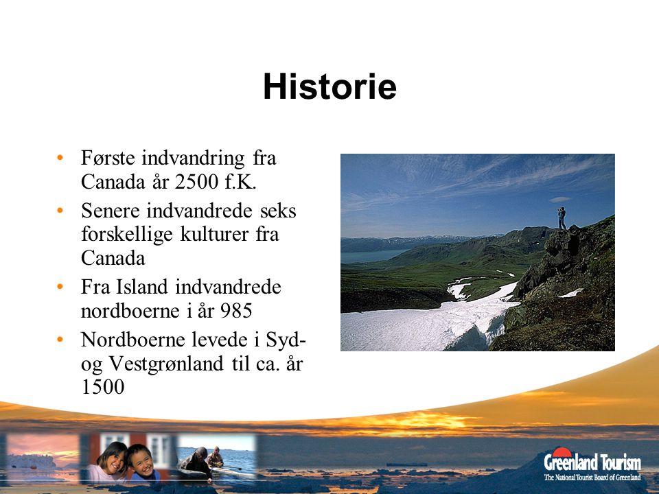 Historie Første indvandring fra Canada år 2500 f.K.