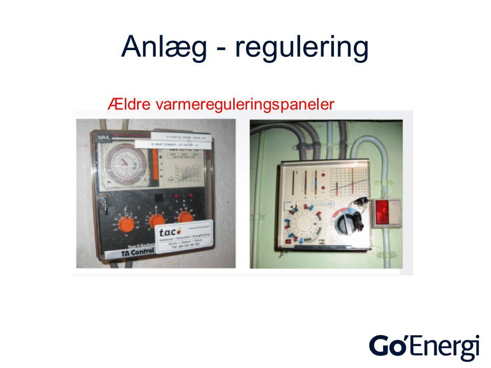 Anlæg - regulering Ældre varmereguleringspaneler