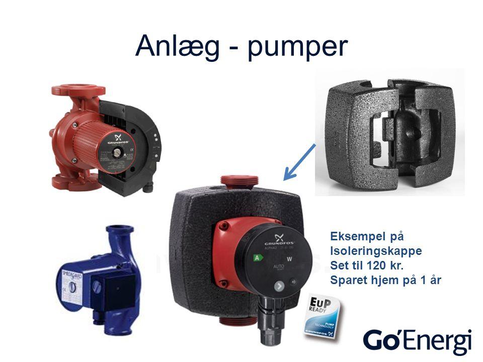 Anlæg - pumper Eksempel på Isoleringskappe Set til 120 kr.