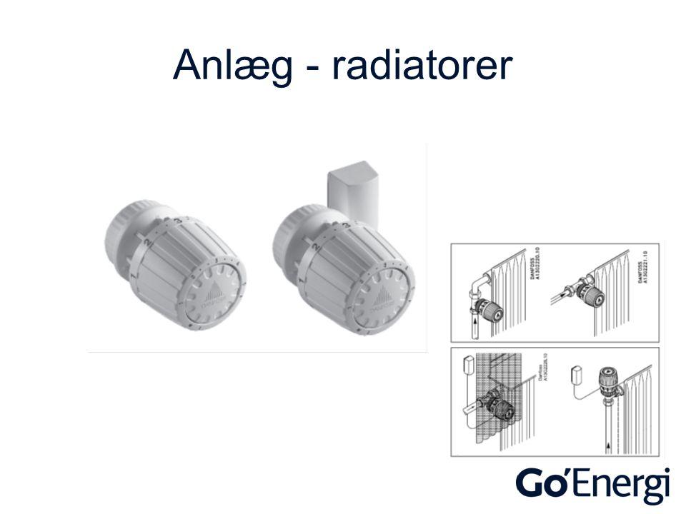 Anlæg - radiatorer