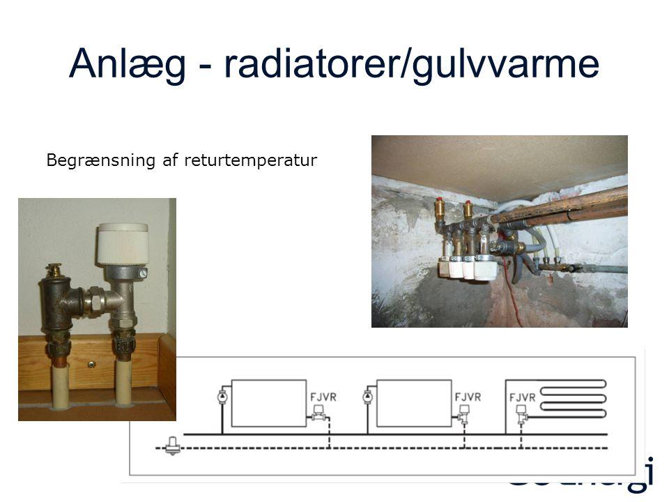 Anlæg - radiatorer/gulvvarme