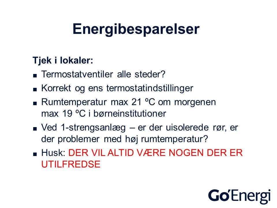 Energibesparelser Tjek i lokaler: Termostatventiler alle steder