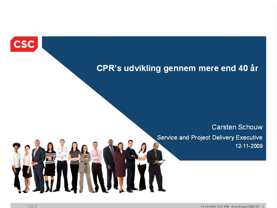 CPR WEB System Good morning and welcome