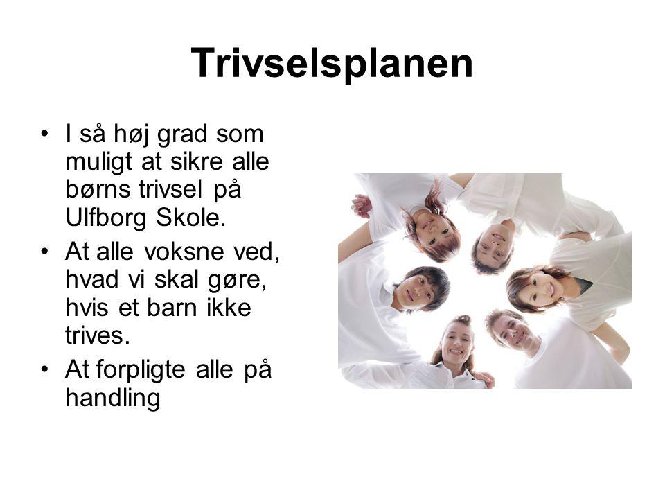Trivselsplanen I så høj grad som muligt at sikre alle børns trivsel på Ulfborg Skole.
