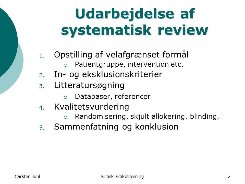 Udarbejdelse af systematisk review