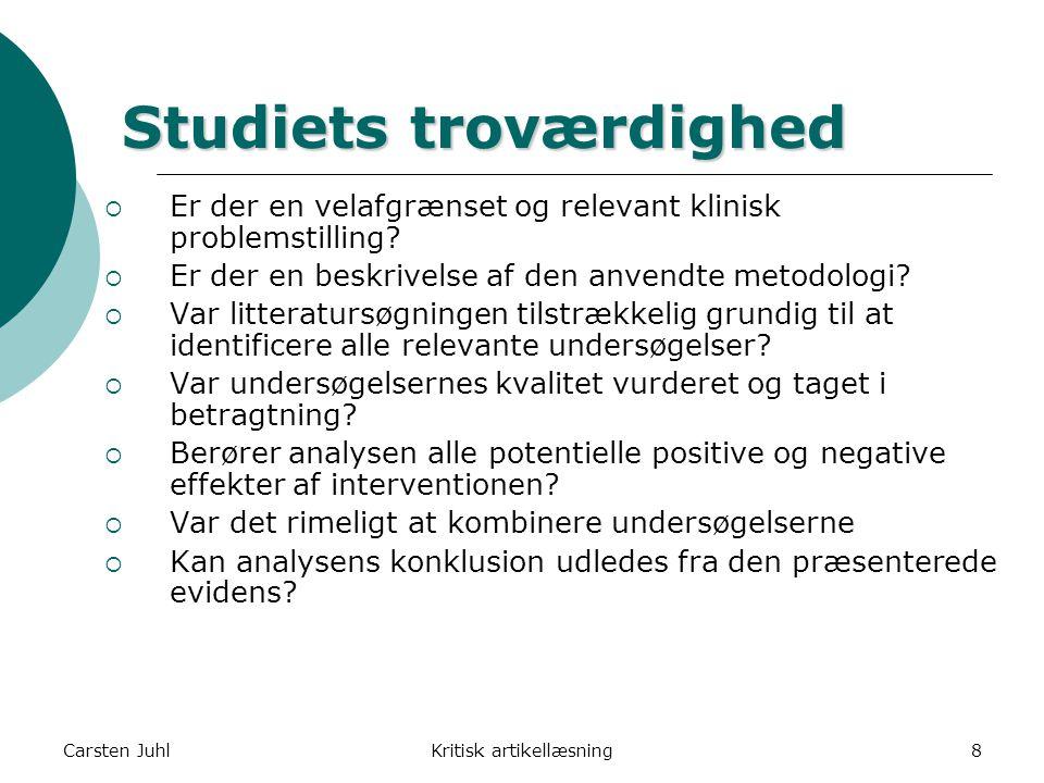 Studiets troværdighed