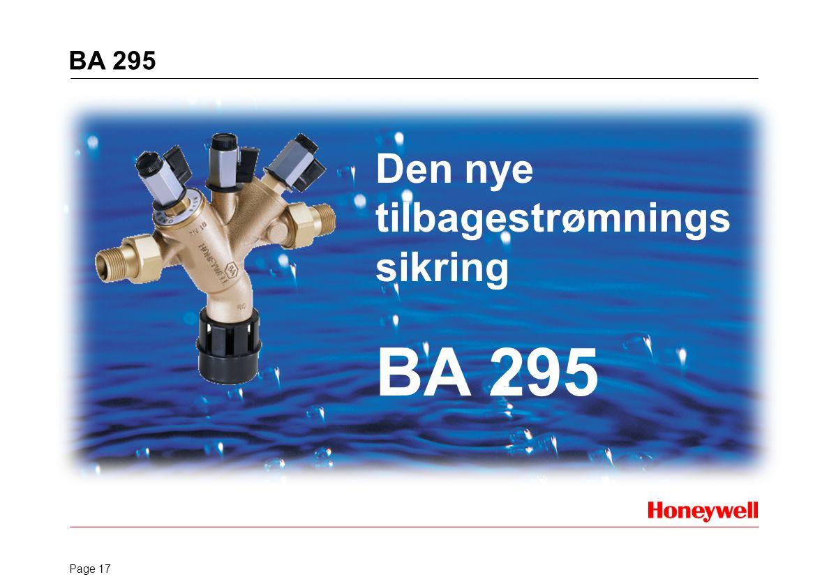 BA 295 Den nye tilbagestrømningssikring BA 295