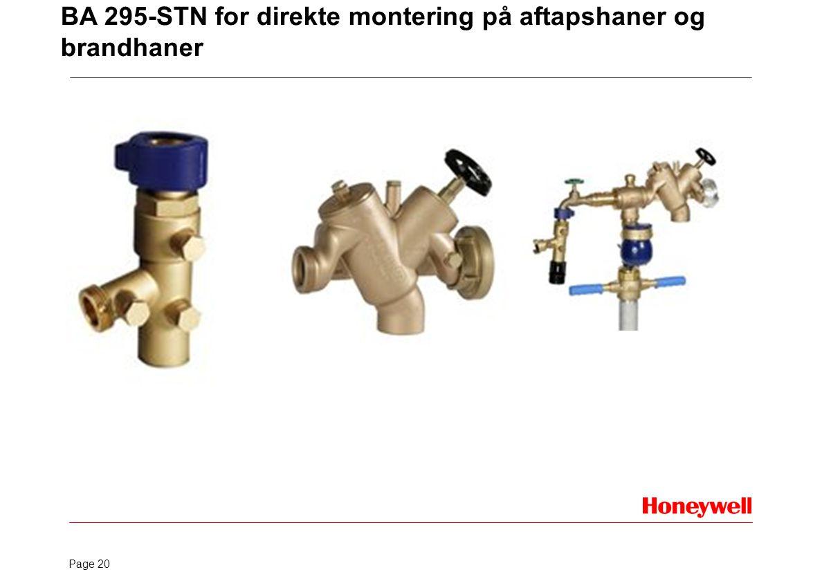 BA 295-STN for direkte montering på aftapshaner og brandhaner