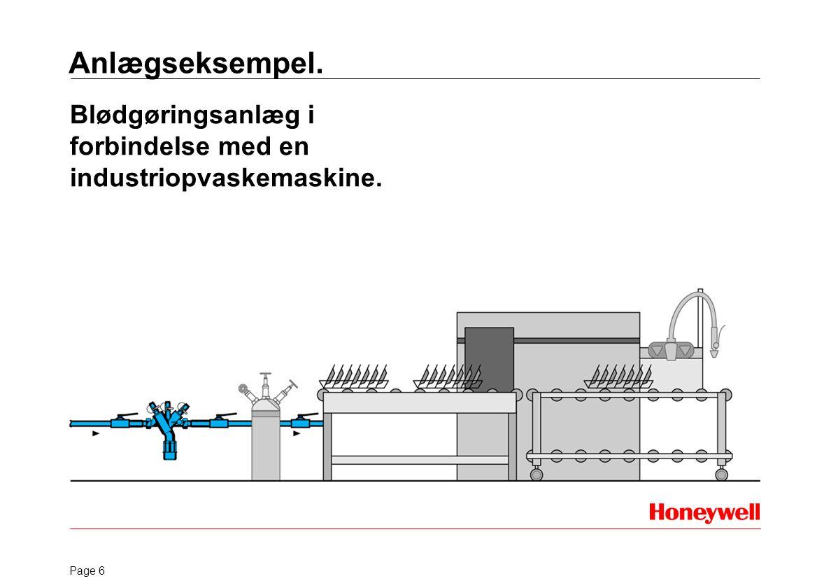 Anlægseksempel. Blødgøringsanlæg i forbindelse med en industriopvaskemaskine.