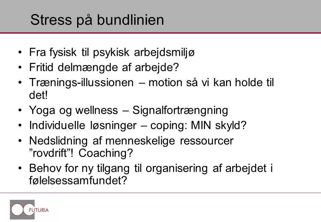 Stress på bundlinien Fra fysisk til psykisk arbejdsmiljø