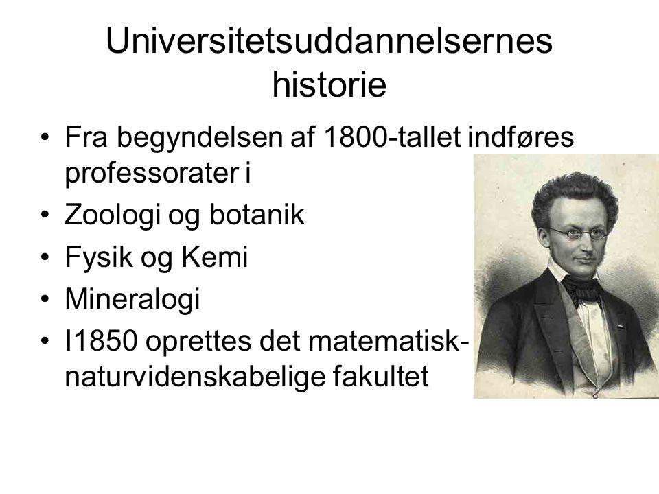 Universitetsuddannelsernes historie