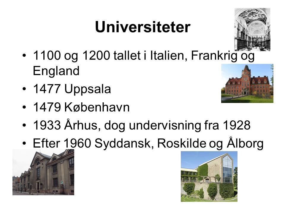 Universiteter 1100 og 1200 tallet i Italien, Frankrig og England