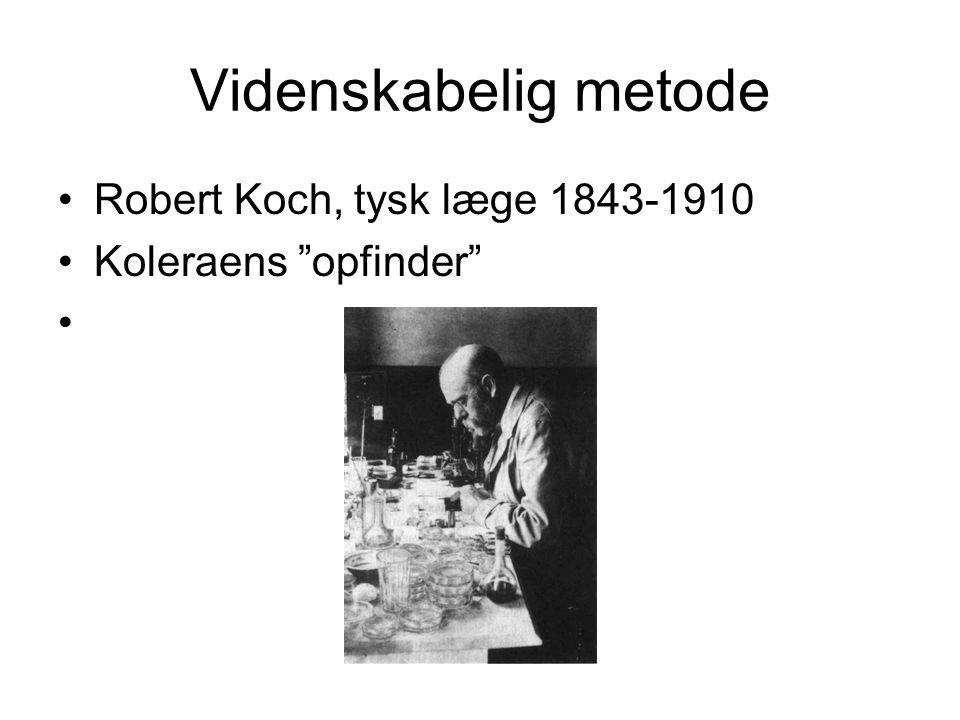 Videnskabelig metode Robert Koch, tysk læge 1843-1910