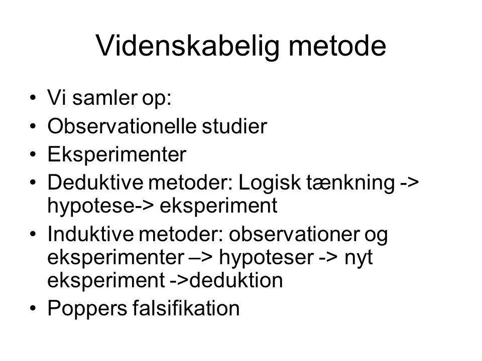 Videnskabelig metode Vi samler op: Observationelle studier