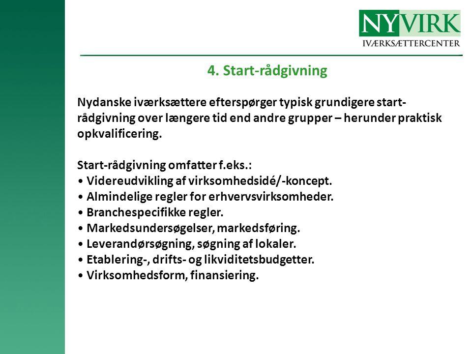 4. Start-rådgivning