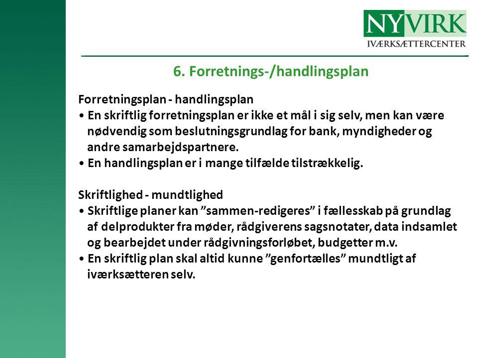6. Forretnings-/handlingsplan