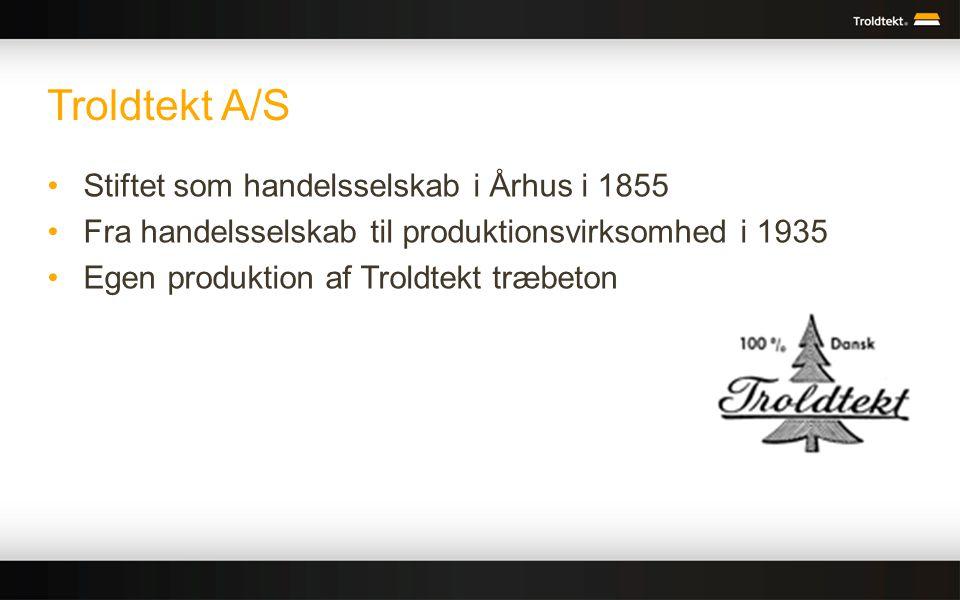 Troldtekt A/S Stiftet som handelsselskab i Århus i 1855