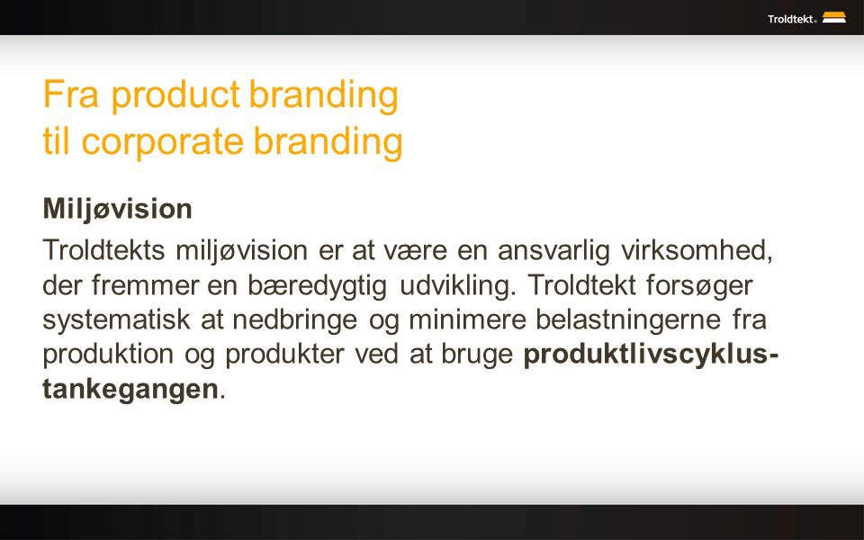 Fra product branding til corporate branding