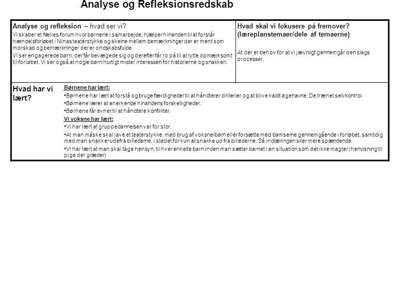 Analyse og Refleksionsredskab